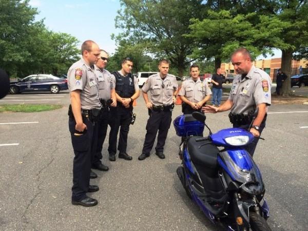 Fairfax County Police undergo motorbike safety training/Credit: FCPD