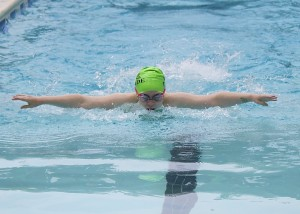 #1197:  Glade's Maya Berry races to a third-place finish in the Girls 9-10 25-meter Butterfly/Credit: RSTA