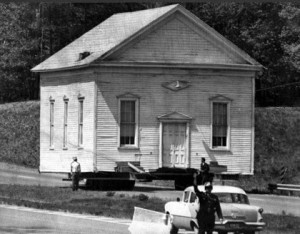 Moving Brown's Chapel in 1968/Credit: Fairfax County archives
