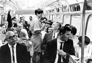 Riding the Reston Commuter bus in the 1970s/Credit: GMU