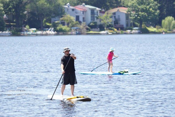 Paddleboarding on Lake Anne/Credit: Jim Kirby