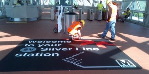 Workings put finish touches on Silver Line station/Credit: Metro