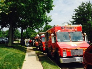 Food trucks on Business Center Drive in Reston