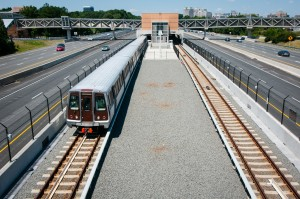 First Silver Line train pulls in to Wiehle-Reston East/Credit: Mike Heffner, Vita Images