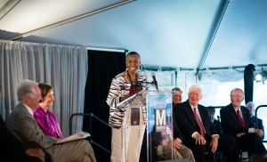 Hunter Mill Supervisor Cathy Hudgins addresses crowd at Silver Line opening/Credit: Jennifer Heffner, Vita Images