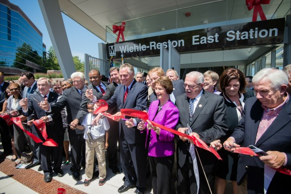 Local dignitaries open the Silver Line