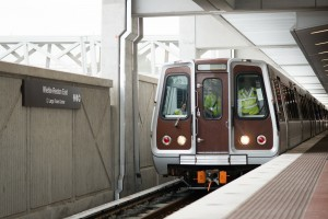The first Metro car rolls into Wiehle-Reston East/Credit: Jennifer Heffner, Vita Images