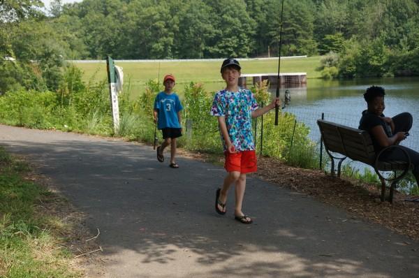 Summer day by Lake Audubon