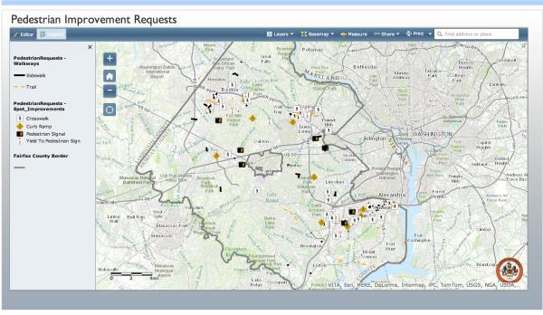 Transportation Improvements map/Fairfax County
