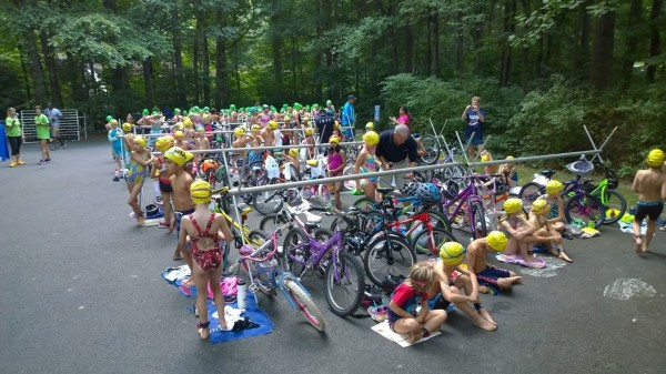 Athletes get ready for the 2014 Reston Kids Triathlon/Credit: Ken Knueven