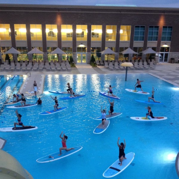 Paddleboarding clinic at Life Time Athletic/Credit 'Surf Reston via Facebook