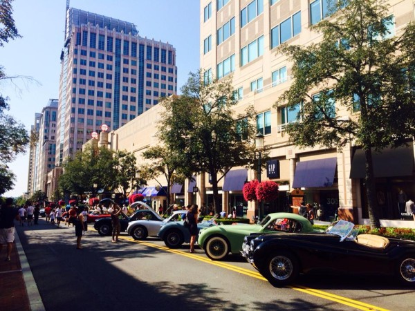 Jaguars on display at Celebrating Jaguars - 50th Golden Anniversary Jaguar Club Car Show/Credit: Reston Town Center