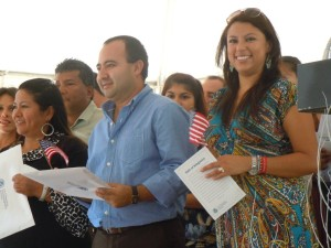 New US citizens at Lake Anne naturalization ceremony 2012/file photo