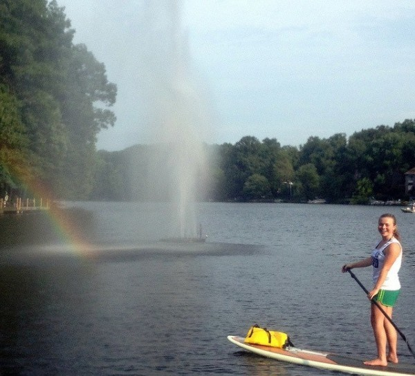 Paddleboarding at Lake Anne/Credit: Surf Reston