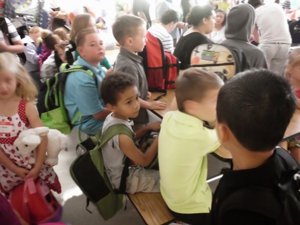 Terraset kindergartners ready on first day of school/Credit: Terraset PTA