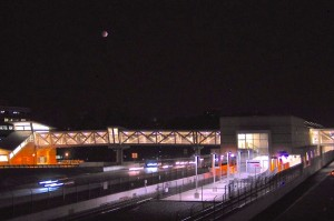 Lunar eclipse over Reston (Photo via Twitter/burtonwc)