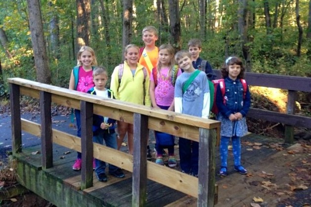 More kids at Forest Edge Elementary walked to school Wednesday than at any other Reston school. (Photo courtesy of Jason Parish)