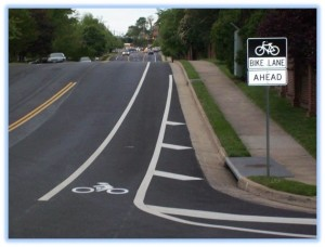 Bike lanes in Fairfax County/Credit: Fairfax County