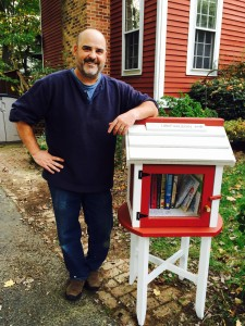 Kurt Rose and his Little Free Library/Courtesy Kurt Rose