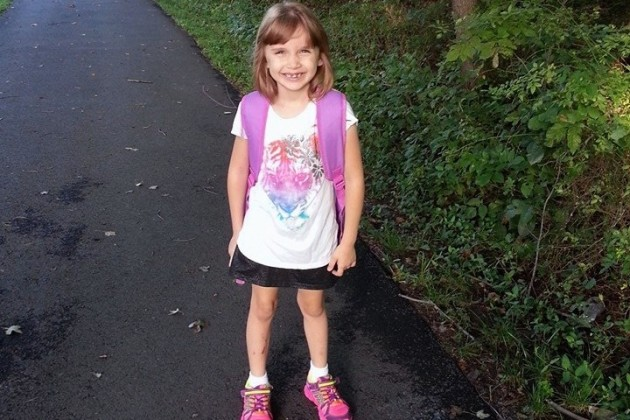 Karleigh walked to Armstrong Elementary (Photo courtesy of Karen L. Sullivan)