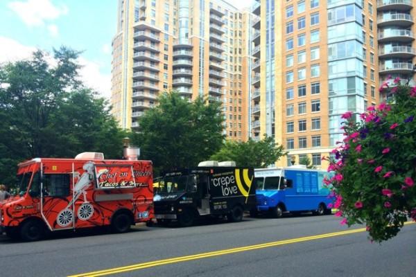Food trucks at Reston Town Center/Photo: Reston Town Center