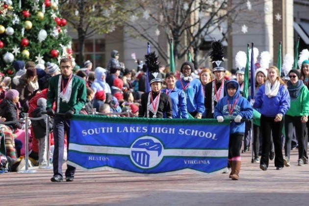 SLHS Band in Reston Holiday Parade/Credit: SLHS Band