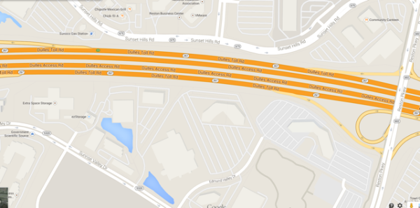 Map of Town Center Parkway underpass location