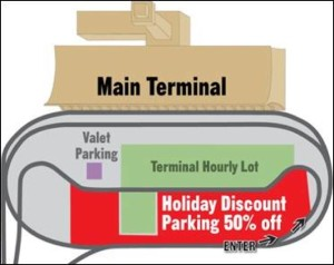 Map of Discount Parking at Dulles/Courtesy of MWAA