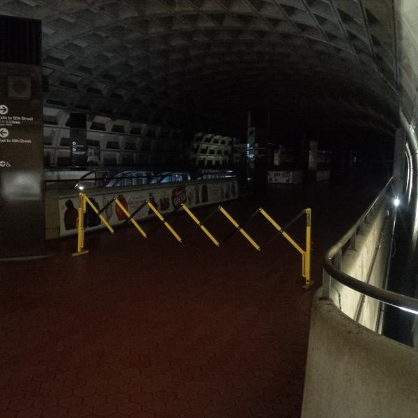 Metro Center station closed due to flooding/Photo: Chang via Twitter