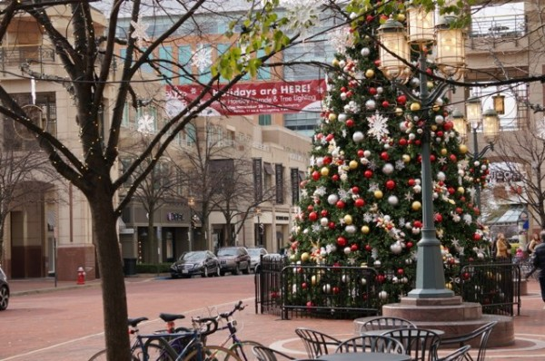 Fountain Square at Christmas