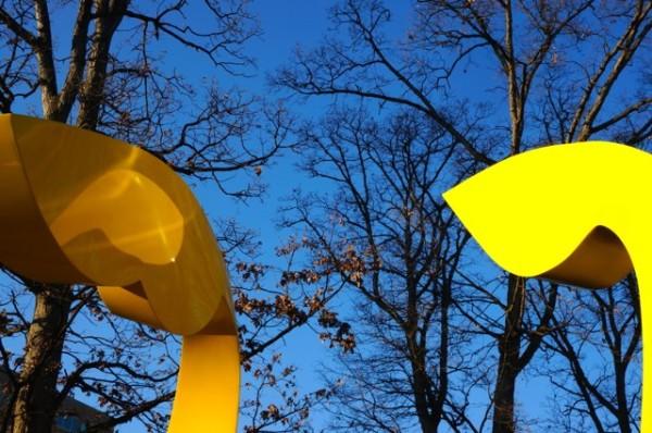 Sculpture at Hyatt Park in Reston