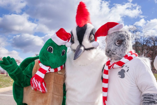 RA Mascots Myrtle the Turtle, Walker the Woodpecker and Earl the Squirrel/Credit: RA