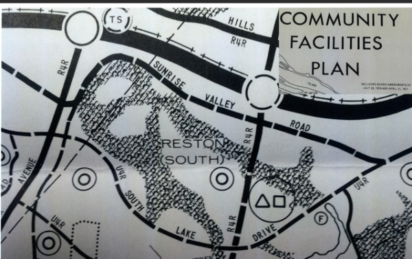 1971 map of Reston South Golf Course