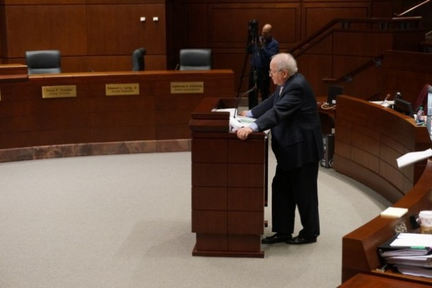 Frank McDermott, attorney for Reston National Golf Course owners.