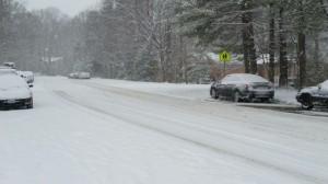 Ridge Heights Road in snow/Credit: Cindy Chiou-Conlin via Facebook