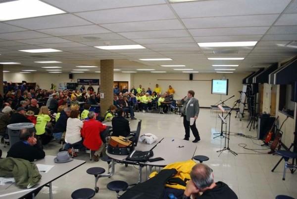 Former Reston Citizens Association President Colin Mills at Rescue Reston rally/Credit: Rescue Reston