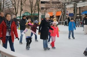 Ice skating at Reston Town Center