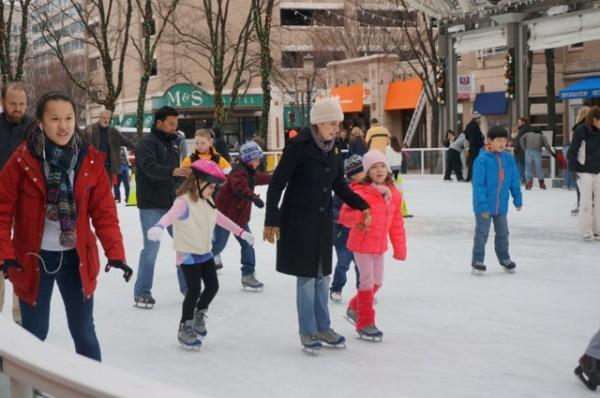 Ice skating at Reston Town Center