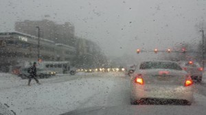 Snow on Reston Parkway/Credit: Ed Schudel via Twitter