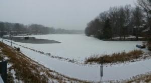 Snow on Lake Audubon, Feb. 16, 2015/Credit: Robert H via Twitter