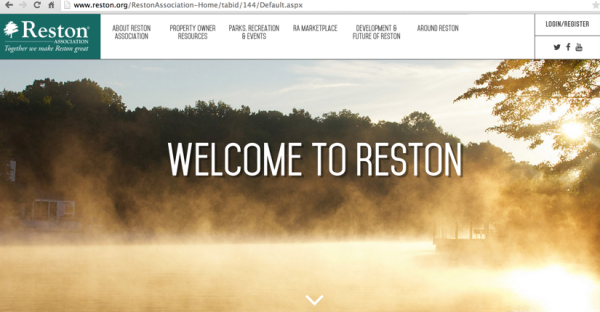 New Reston Association website