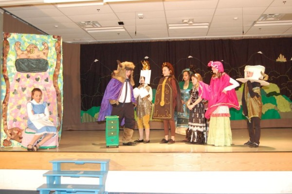"Lake Anne Students perform ""Beauty and the Beast Jr.""/Courtesy Grace Yakubisin"