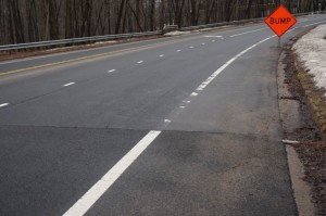 Road damage on Soapstone March 12, 2015