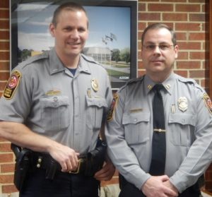 Capt. Ron Manzo (right) wil llead Reston District Station, along with Lt. Lance Schaible (left)/Credit: Fairfax County