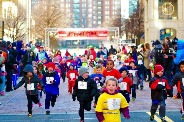 Little runners at the Kids Mighty Mile at Reston Town Center March 28/Credit: Reston Town Center