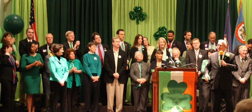 Local officials join Rep. Gerry Connolly at 2015 St. Patrick's Day Fete/Courtesy Gerry Connolly