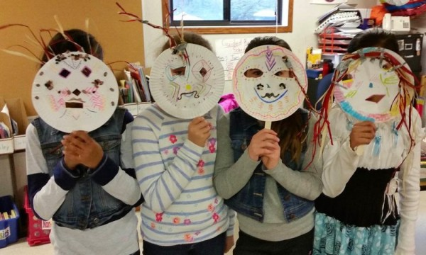 Terraset Elementary students make African masks in GRACE Art enrichment/Courtesy Terraset PTA