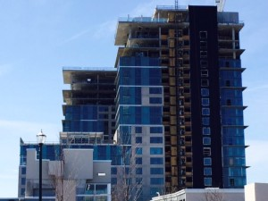 BLVD Apartments under construction in Reston