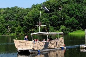 Pirate Fest Boat on Lake Fairfax/Courtesy FCPA