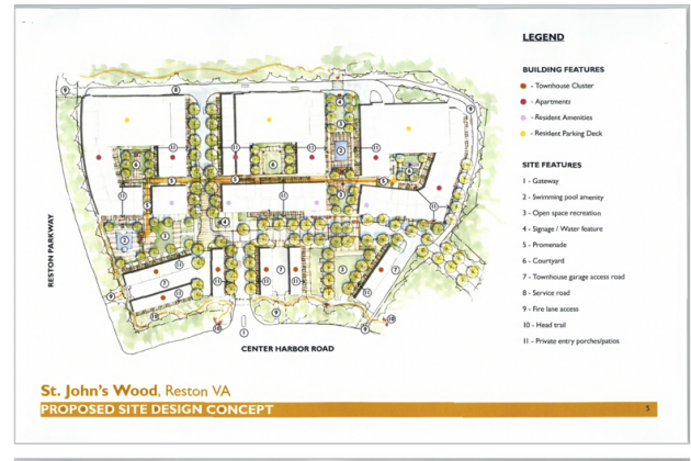 Layout of new St. Johns Wood/Courtesy Bozzuto